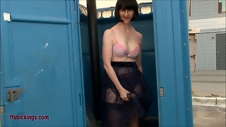 Public Toilet, Public Nudity, Toilet Hd, Stockings Squirting, Strap On Stockings, Lingerie And Stockings, In Public Toilet, Stra P, Stockings Toilet, Strap Public