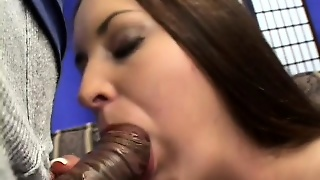 Gorgeous Harlot With Long-Hair Uses Her Lips And Tongue To Make Bbc Hard