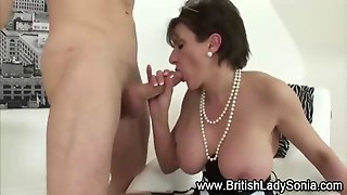 Mature Stockinged Lady Sonia Gets A Cumshot