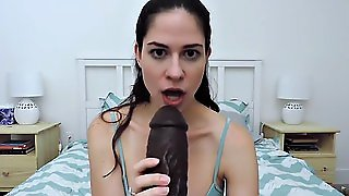Obsessed With Big Black Dildo