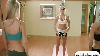 Two Pretty Hotties Yoga Session With Their Yoga Teacher