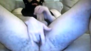 Hairy Straight Bearded Daddy Jerking Horse Cock Fingers His Own Arse
