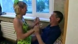 Daughter And Step-Mother Blow The Father (Step-Son Is Learning)