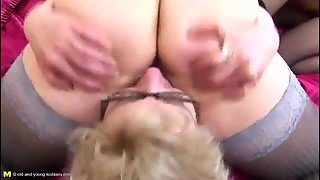Three Old Ladies Have Hot Lesbian Sex
