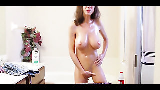 Brown Hair, Babe, Natural Tits, Softcore, Interview, Oil, Juicy Pussy, Big Natural Tits, Livingroom, Brunette, Solo Masturbation