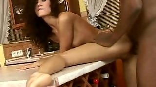 Babe Is Doggied By Black Cock