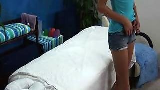 Hidden Camera Catches 18 Year Old Fucked On Massage Table