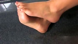 Nylon Feet In Kitchen
