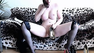 Bustyxxhelen - Hot Stockings And Heels Cum Fun
