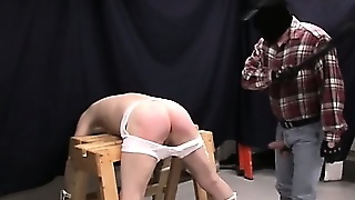 Shadow Ties His Slave Down And Abuses His Ass With A Paddle And His Cock