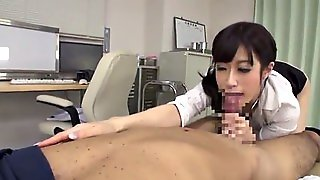Admirable Asian Nurse With Natural Tits Delivering A Jerky Hand Job Before Getting Her Pussy Licked Erotically