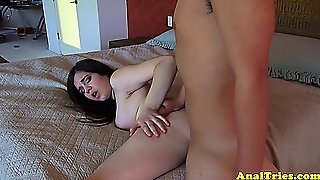 Blackhaired Girlfriend Fingered And Fucked