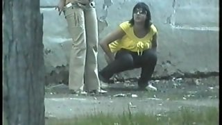 Obvious Girl Gets Shot On Hidden Camera Pissing