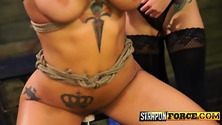 Tattooed Slut Enjoying Sex Toy Play
