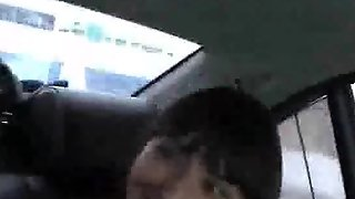 Car Blow Job Ends Up With Mouthfull Of Cum