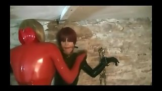 Tranny Latex Basement Bagging 2
