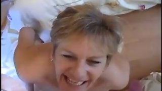 Naughty Granny Swallowing Cum