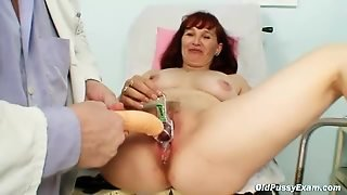 Doctor Makes Mature Pussy Wet With Milk