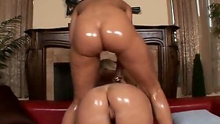 Dude Bangs Too Oiled Up Bitches
