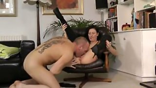 Stockinged Milf Pussylicked And Doggystyle
