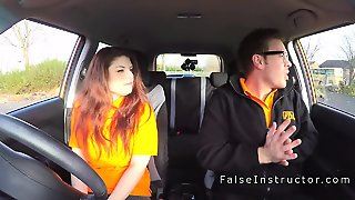 Huge Tits Examiner In Threesome In Car