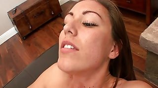 Sexy Brunette Watches Redtube While Being Pounded