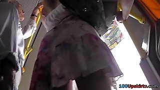 Bubble Ass And Classic Panties Seen In Upskirt Mov