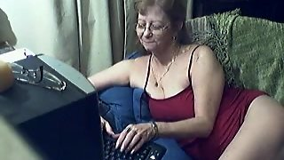 Innocent Grandma On Webcam