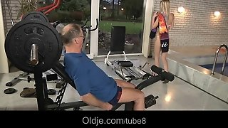 Big Boned Old Man Fucking A Young Blonde Babe