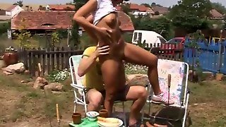 Anal Boinked At Bbq Party