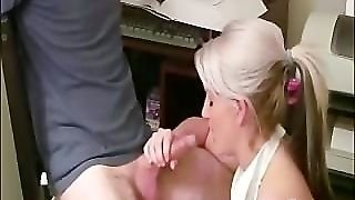 Giving A Blowjob To A Hard Cock