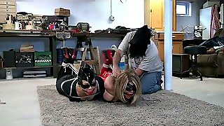 Catwoman And Superheroine Tied Up