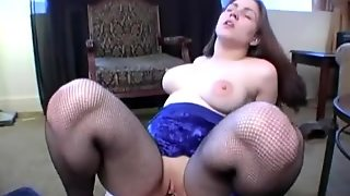 Babe In Fishnets Moans In Hardcore Pov Scene