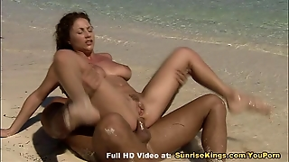 Beach Blowjob And Tit Cumshot