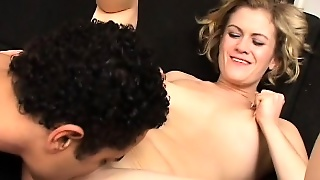This Mommy Comes In Without Any Shame And With A Black Cock In Her Ass