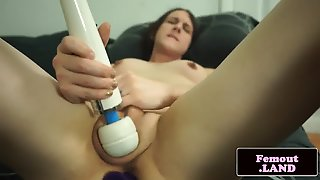 Femboy Masturbating And Playing With Toys
