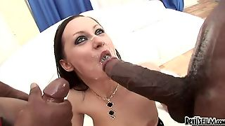 Hot Slut Sucking Cocks And Getting Cum On Their Faces