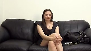 Innocent Girl Gets A Creampie At Backroom Casting Couch