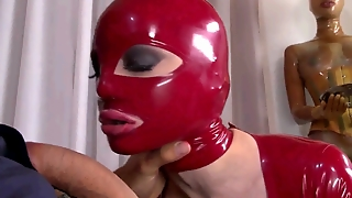 Latex Mask Blowjob