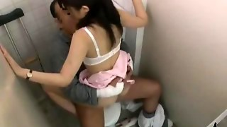 Nurse With Hairy Pussy Riding On Patient Cock In The Toilette