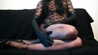 Gay, Masturbate, Crossdressers, Playing, Handjob Gloves, Gayhandjob, Gloves Hand Job, Crossdressers Handjob