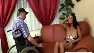 Amputee Sixty Nine Fucking Hairy Pussy Brunette
