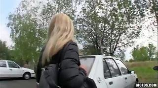 Alluring Chick Fucked In The Parking Lot