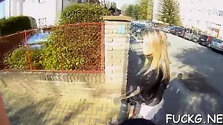 Guy Picks Up A Teen Wench And Bangs Her In His Spy Glasses