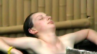Foreigner Is In The Japanese Spa. Relax. Softcore