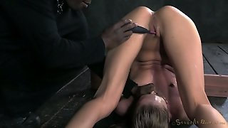Bound In Pile Driver White Filth Got Her Pussy Fucked With Dildos Those Freaks Applied