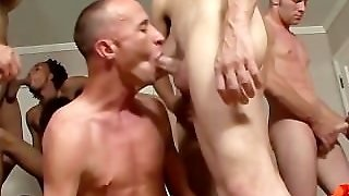 Video Of Twink Giving Guys A Blowjob In Reality Gangbang