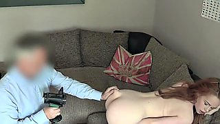 Cute Redhead Fucked On Casting