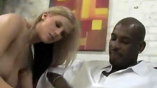 Blonde Orally Worships Black