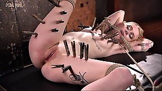 Cute And Submissive Blondie Anna Tyler In Orgasmic Bdsm Action